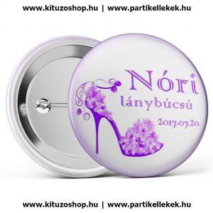 Egyedi lánybúcsú kitűző - LANY_0036 - Nóri lánybúcsú kitűző