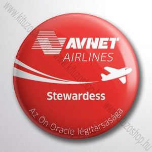Avnet Airlines Stewardess kitűző