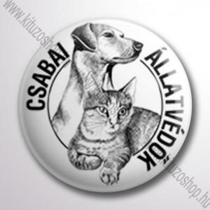 Csabai állatvédők kitűző
