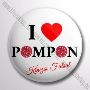 I Love PomPon kitűző