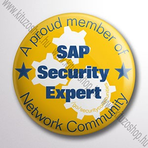 SAP Security kitűző