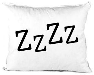 ZZZZ feliratos párna a mély alváshoz